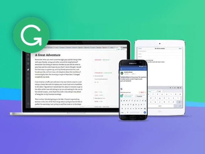 Grammarly corrects your writing errors on every device