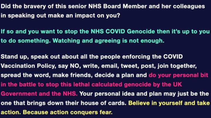 Senior NHS Board Member Warns: Stop The Genocide Or Our Children